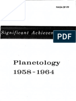 Significant Achievements in Planetology 1958 - 1964