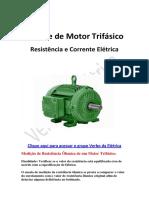 Análise de Motor Trifásico
