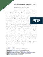 Obama on Egpyt - 11 February 2011 - Vocabulary