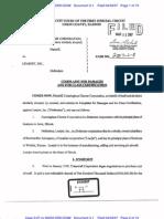 CUNNINGHAM CHARTER CORPORATION v. LEARJET, INC. Complaint