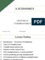 Lecture 21 - Unemployment