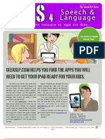 iPad, iPhone, iPod, Android Apps for Speech and Language Therapy