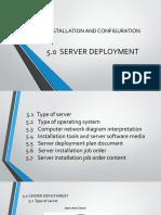 5.1  Type of server