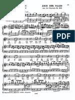 Бах - Ария Палес Из Кантаты 208 - Клавир с Русским Текстом
