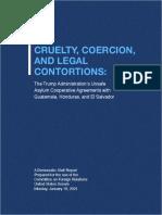 Cruelty, Coercion, And Legal Contortions  (SFRC Democratic Staff Report)