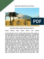 Hazrat Ghouse Alam Khaja Thani's one miracle