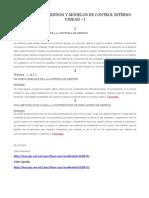 Auditoria de Gestion y Modelos de Control Interno U-1