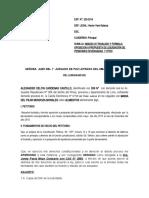ABSUELVE PROPUESTA DE LIQUIDACIÓN SR. CARDENAS