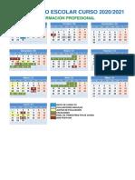 Calendario Escolar FP 2020-21