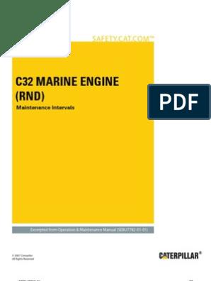 C32 Marine Engines (RND) - Maintenance Intervals   Belt (Mechanical