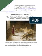 Romans 13 Defy Tyrants