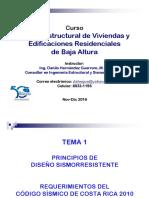 TEMA 1-CURSO DISEÑO ESTRUCTURAL VIVIENDAS-2016