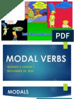 LESSON 3 MODAL VERBS