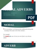 LESSON 4 MODAL ADVERBS