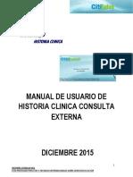 MANUAL HISTORIA CLINICA CONSULTA EXTERNA