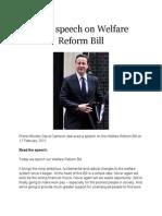 David Cameron Welfare Speech