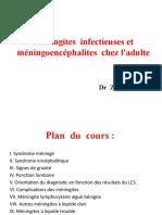Méningites infectieuses et méningoencéphalites chez l_adulte