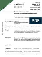 Produits préfabriqués en béton - Prédalles pour systèmes de planchers