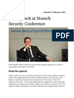 David Cameron at Munich Security Conference
