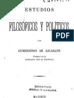 Azcarate-Estudios filosoficos y politicos 1877