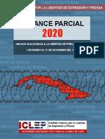 BALANCE PARCIAL 2020 - Prensa Cuba