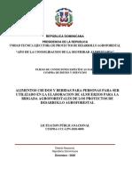 PLIEGO LICITACION PUBLICA NACIONAL ADQUISICION DE ALIMENTOS CRUDO