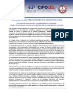 FMO UES ODONTO - Guía de manejo frente al COVID19, en la clínica dental y el protocolo de lavado de manos y uso de mascarilla