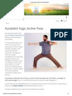 Archer Pose - Kundalini Yoga