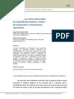 CARDOSO FILHO-GUTMAN - Performances como expressoes