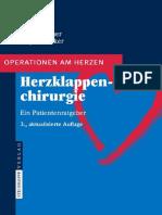 Bauer, Ennker - Herzklappenchirurgie - Ein Patientenratgeber; 3. Aufl. 2008