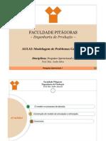 Aula_PO1_Modelagem de Problemas Gerenciais