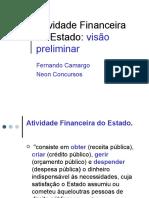 Atividade Financeira do Estado -Preliminares