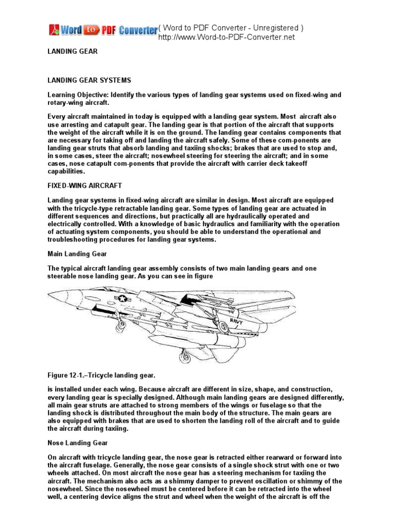 landing gear design for light aircraft - the best and latest