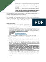 PROCEDIMIENTO DE TRABAJO CON ACTIVIDADES A DISTANCIA POR CONTINGENCIA.