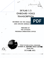 Skylab 1/3 Onboard Voice Transcription Part 2 of 4