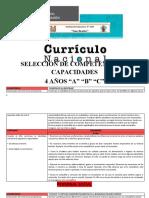 MATRIZ DE COMPETENCIAS Y CAPACIDADES DE 4 AÑOS