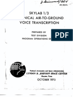 Skylab 1/3 Technical Air-To-Ground Voice Transcription 2 of 6