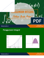 Penggunaan Integral (volume benda putar)
