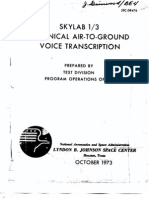 Skylab 1/3 Technical Air-To-Ground Voice Transcription 3 of 6