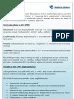 What is ISO 27001-Morison Menon