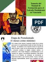 Temario del Manual de Formación para el Laicado Dominicano en Venezuela.pptx