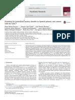 2017 GAD-7 Psychiatry Research R