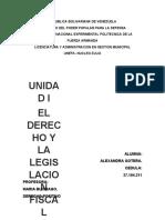 LEGISLACION FISCAL Y  MERCANTIL. ALEXANDRA GOTERA
