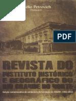 REVISTA DO IHGRN LXXXVIII 1997-1998-1999 Edição Comemorativa do Centenário 1902-2002