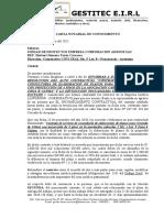 Carta Notarial de Conocimiento - Yesenia