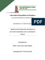 Informe sobre Desafíos en la Educación de Honduras ante COVID-19.docx