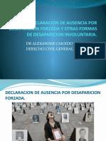 DECLARACION DE AUSENCIA POR DESAPARICION FORZADA Y OTRAS.pptx