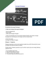 Contoh Kertas Kerja Rancangan Perniagaan