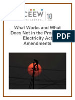 What Works and What Does Not in the Proposed Electricity Act Amendments