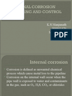 INTERNAL CORROSION MONITORING AND CONTROL